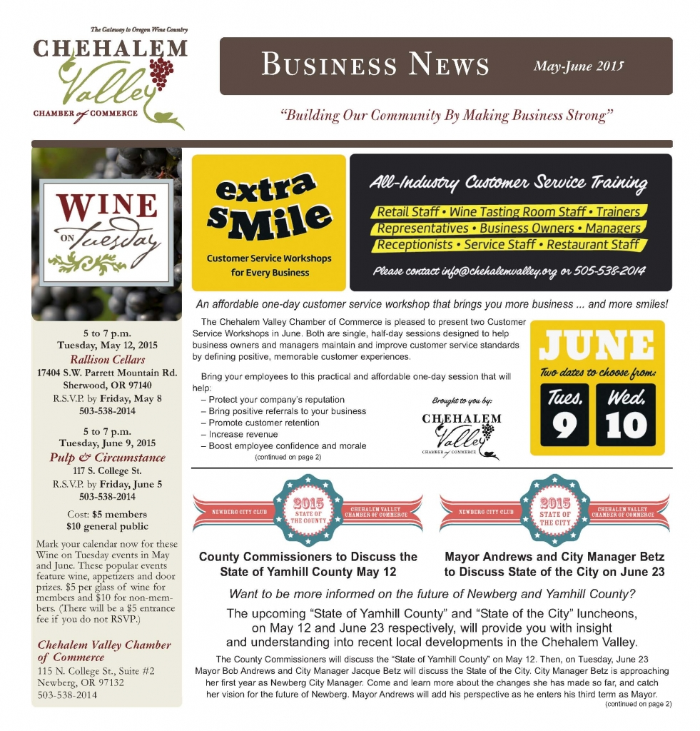 2015 May-June Chamber News